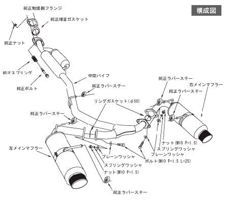 ท่อสูตร Toyota FT86 Spec L
