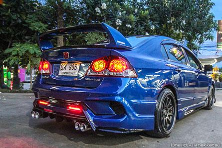 ชุดแต่งรถ Civic FD ทรง Type X 2016 สีน้ำเงิน