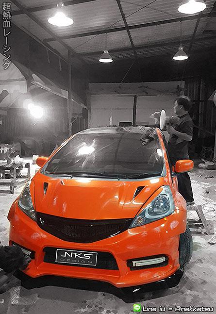 ชุดแต่ง Jazz GE ทรง RS Turbo Wide Body