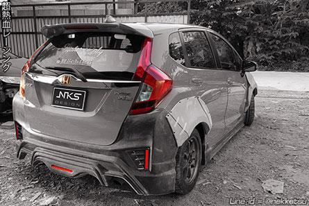 ชุดแต่งรถ Jazz GK ทรง Type r + โป่งเย็บ