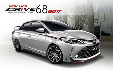 ชุดแต่งรถ Toyota Vios 2017 ทรง Drive 68