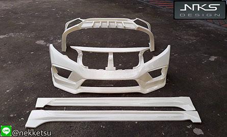 ชุดแต่ง Civic FK ทรง Type X พลาสติก