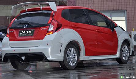 ชุดแต่งรถ สเกิร์ตรอบคัน Honda Jazz GK 14-19 ทรง Wide Body