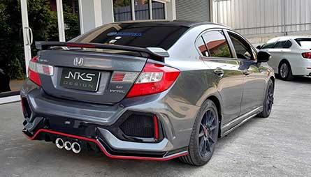 ชุดแต่ง สเกิร์ตรอบคัน Honda Civic FB 2012 ทรง Type R 2020