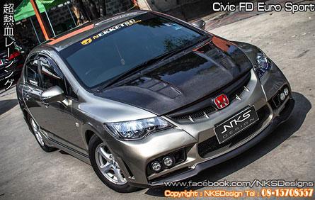 ฝากระโปรงหน้า Civic FD M&M Carbon