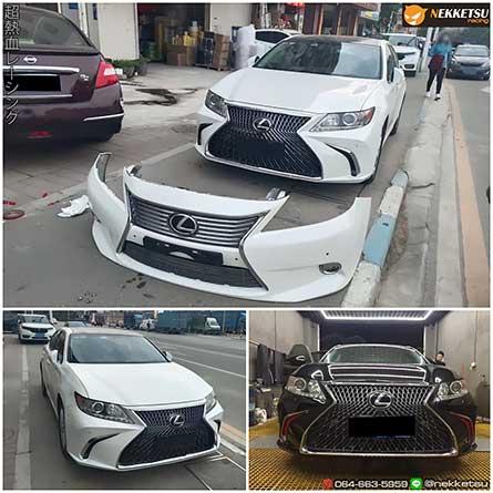 ชุดแต่ง สเกิร์ตรอบคันรถ Lexus ES300 ปี 2006-2014 เปลี่ยนหน้าเป็น 2018