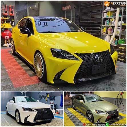ชุดแต่งสเกิร์ตรอบคันรถ Lexus IS250 ปี 06-12 เปลี่ยนหน้าเป็น 2021