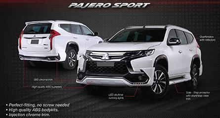 ชุดแต่งรถ Pajero Sport 2018 ทรง TiThum