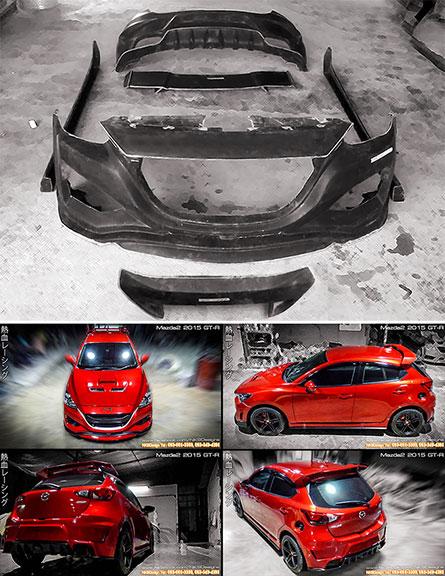 ชุดแต่ง Mazda2 2015 ทรง GTR