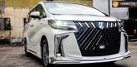ชุดแต่งรถอัลพาร์ด Toyota Alphard 2018-2020 สเกิร์ตทรง Modellista + กระจังหน้า WALD 2021