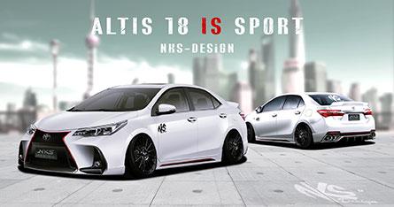 ชุดแต่งรถ สเกิร์ตรอบคันอัลติส Altis 18-19 ทรง Lexus I.S Sport