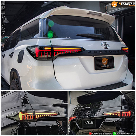 โคมไฟท้ายรถฟอร์จูนเนอร์ Toyota Fortuner 2015-2019 ทรง Lexus.