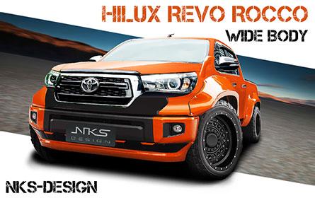 ชุดแต่งรถ สเกิร์ตรอบคัน Hilux Revo ทรง Tundra