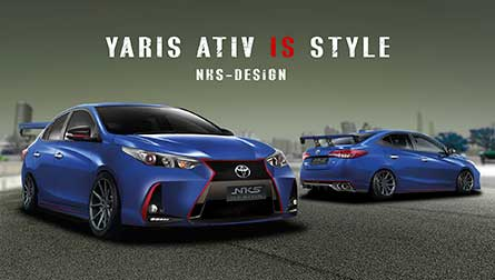 ชุดแต่งรถ สเกิร์ตรอบคัน Yaris Ativ 18-20 ทรง Lexus I.S Sport