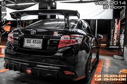 ชุดแต่ง VIOS 2013 iS Sport  สีดำ
