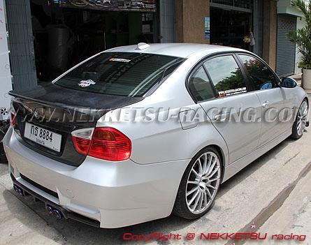 ชุดแต่ง BMW E90 ทรง M3 รวมลิ้น และ ฝากระโปรงหน้า-หลัง Real Carbon